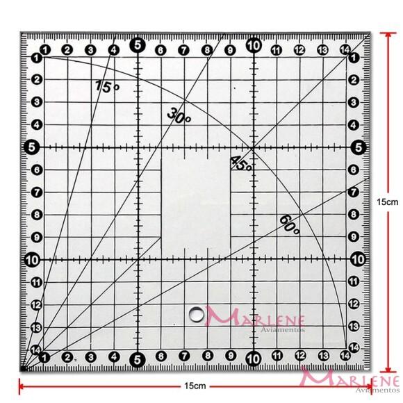 Régua 15 x 15cm  para patchwork SRB