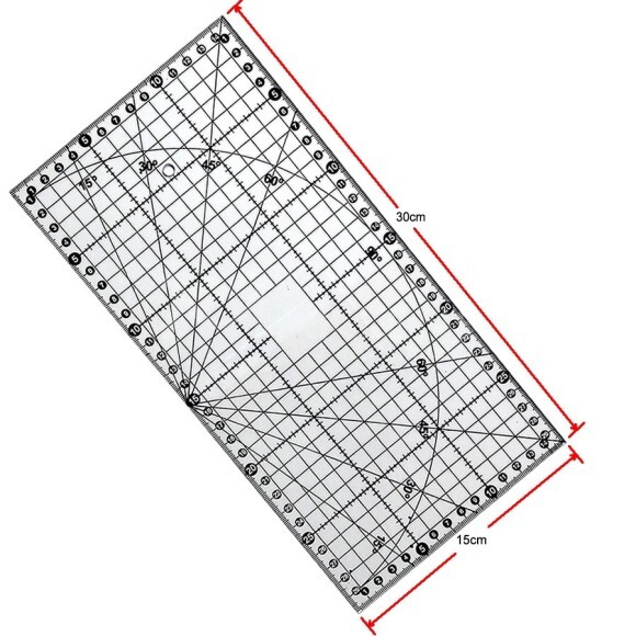 Régua 15x30cm  para patchwork acrílica SRB