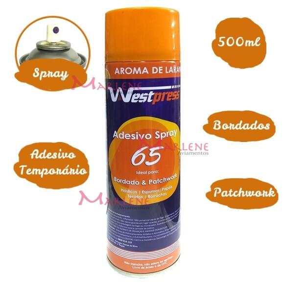 Cola temporária spray 500ml aroma de laranja Westpress