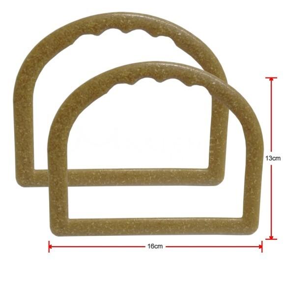 Alça para bolsa meia argola madeira 7337