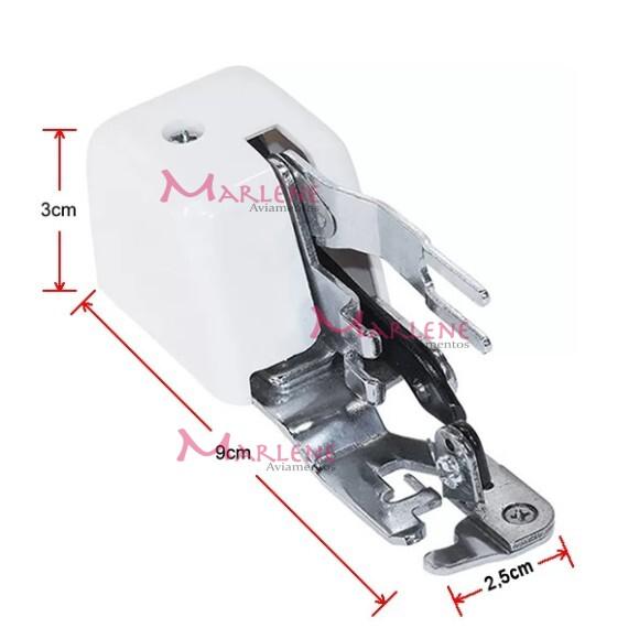 Calcador overlock com faca RCT-10L para máquina doméstica