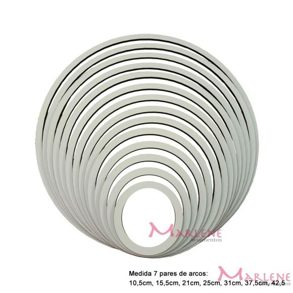 Kit arcos laminado branco com 7 molduras em MDF