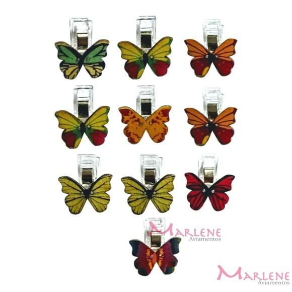 Prendedor de patchwork borboleta com 10 unidades
