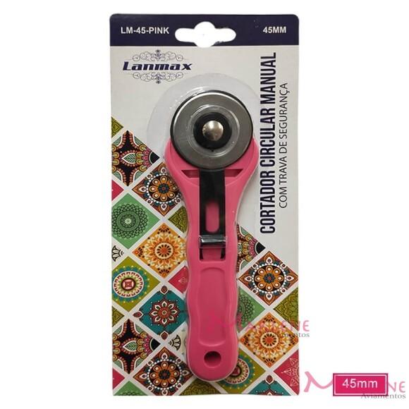 Cortador circular 45mm manual rosa Lanmax