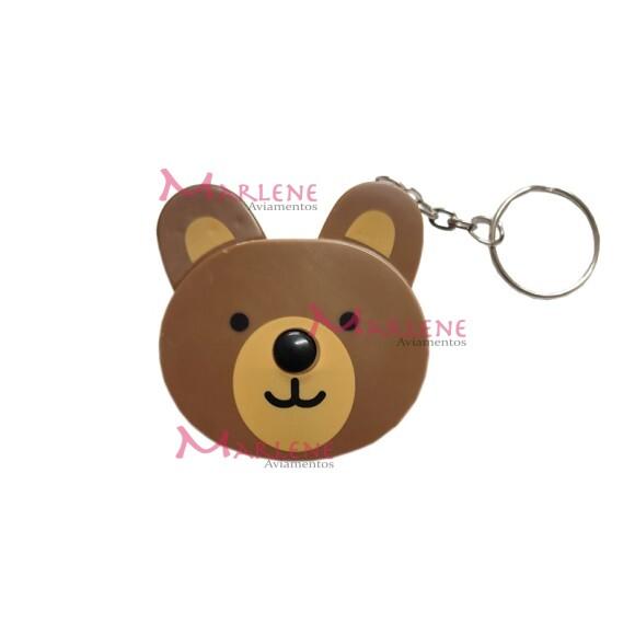 Fita métrica urso retrátil com chaveiro