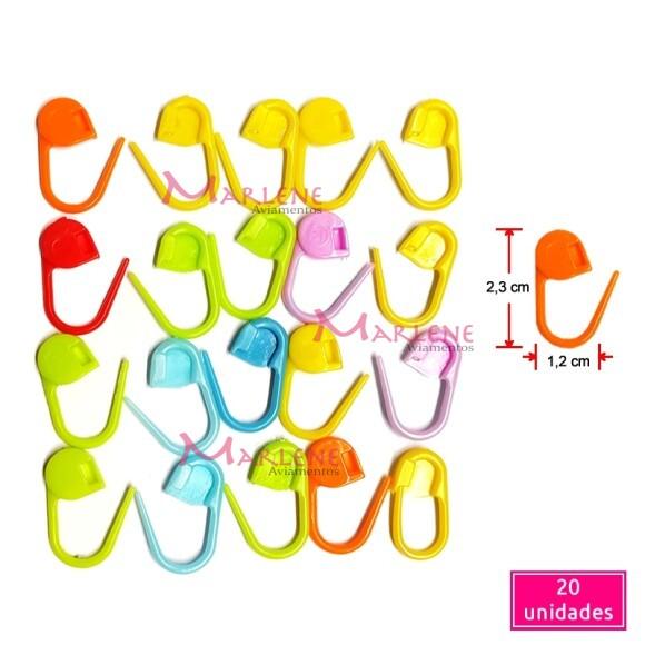 Marcador Cadeado com 20 unidades para crochê e tricô