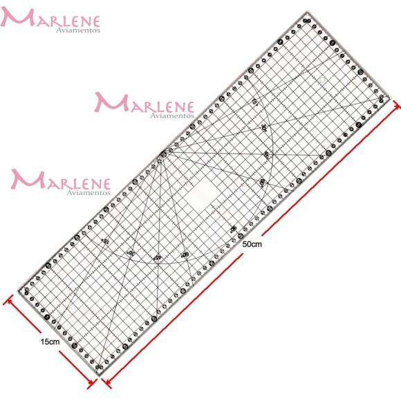 Régua 15x50cm  para patchwork acrílica SRB