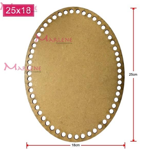 Base mdf oval 25X18cm para crochê