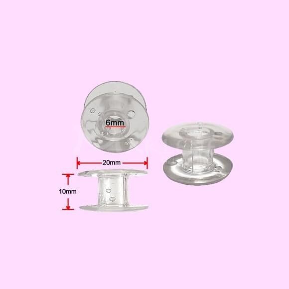 Bobina plástica alta transparente para máquina doméstica unidade