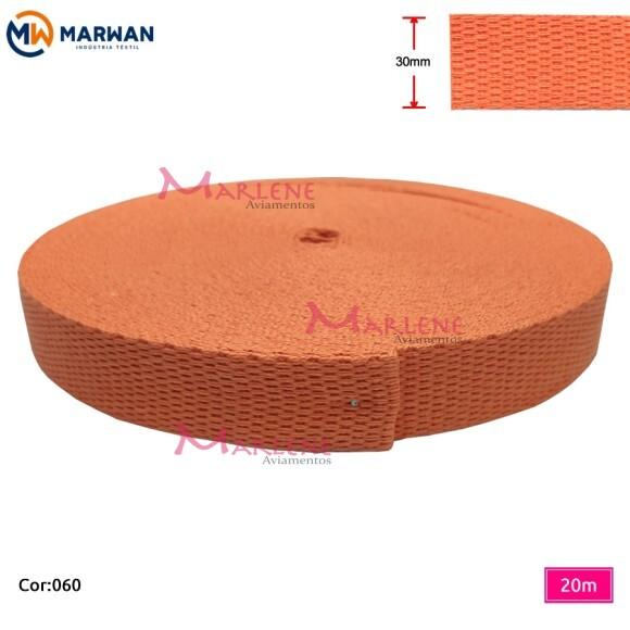 Cadarço de algodão 30mm com 20m Marwan colorido
