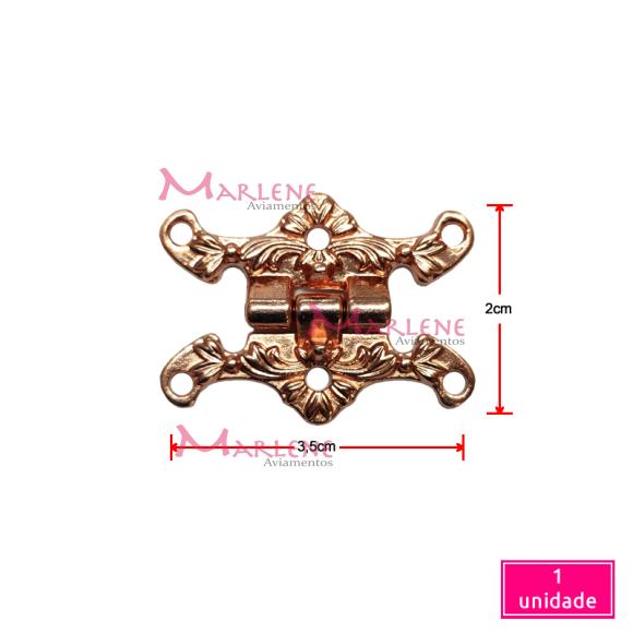 Dobradiça trabalhada bronze 15700 com 1 unidade