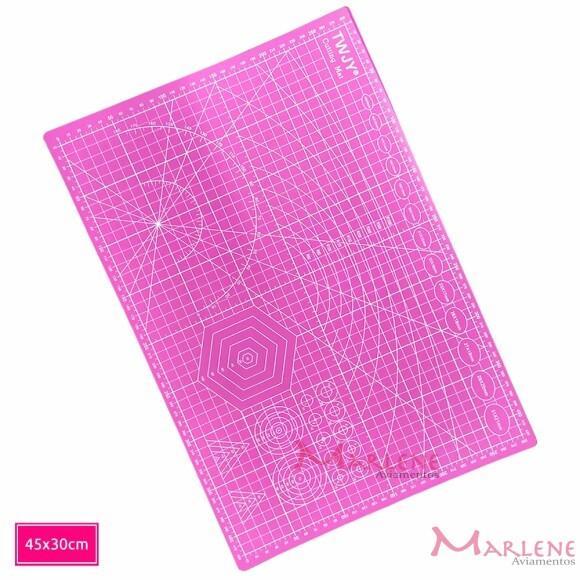 Base de corte 45x30cm rosa TWJY dupla face A3