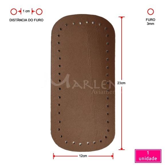 Fundo de bolsa caramelo 12x23cm sintético