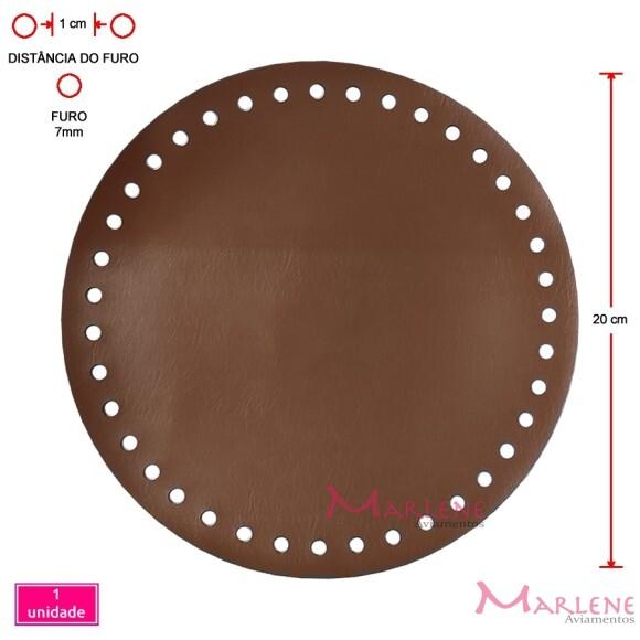 Fundo de bolsa caramelo 20cm redondo sintético