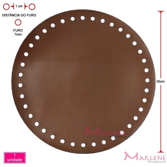 Fundo de bolsa caramelo 25m redondo sintético