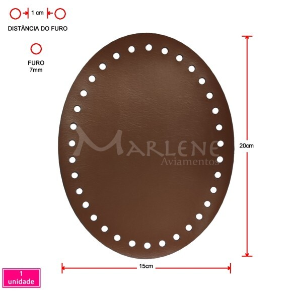 Fundo de bolsa caramelo 15X20cm oval sintético