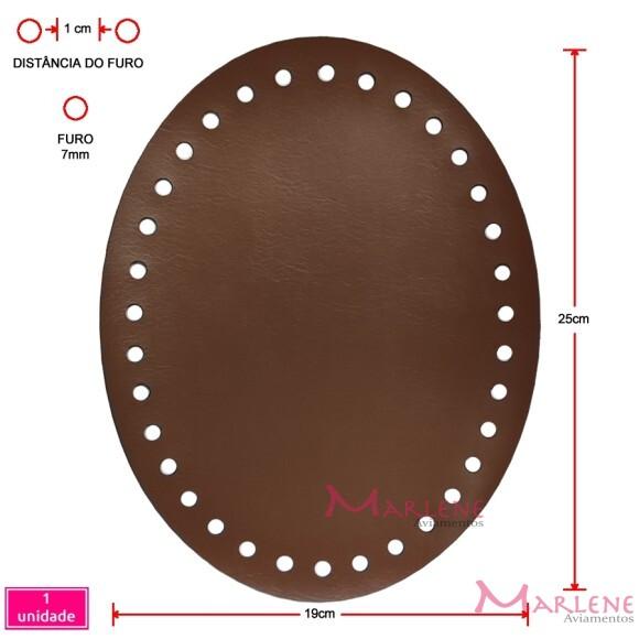 Fundo de bolsa caramelo 19X25cm oval sintético