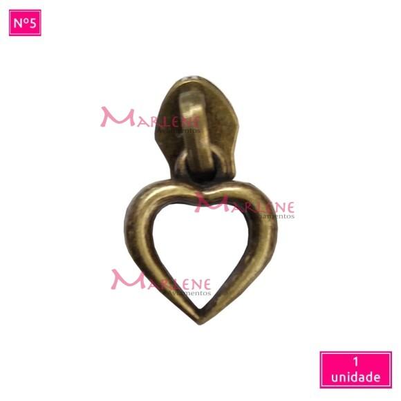 Cursor nº5 coração vazado artesanal unidade