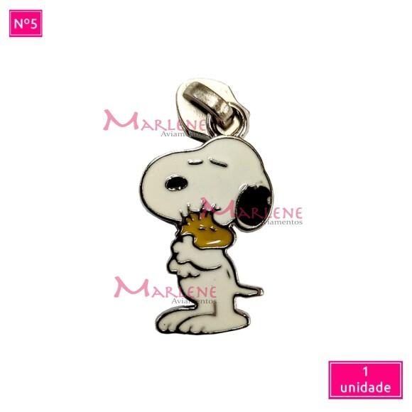 Cursor nº5 cachorro abraçado níquel artesanal unidade