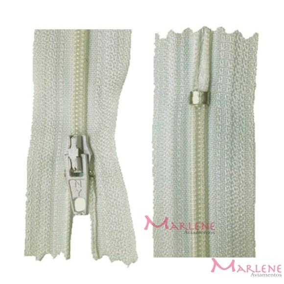 Zíper de nylon fino 18cm unidade