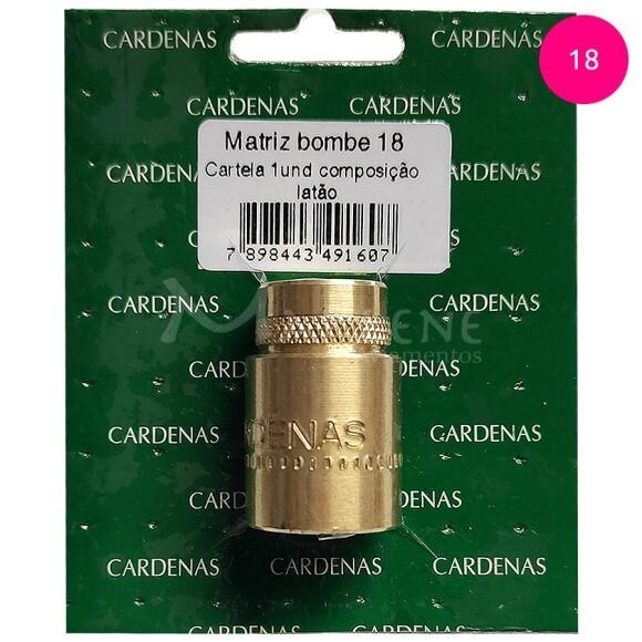 Matriz bombê 18mm Cardenas para forrar botões