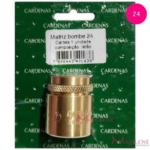 Matriz bombê 24mm Cardenas para forrar botões