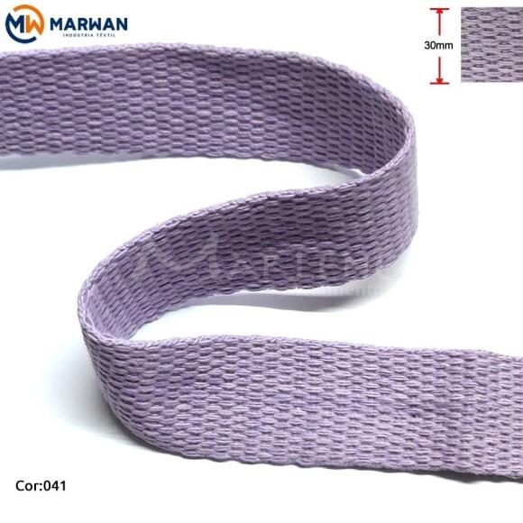Cadarço de algodão 30mm lilás por metro
