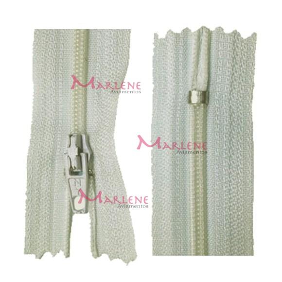 Zíper de nylon fino 50cm unidade