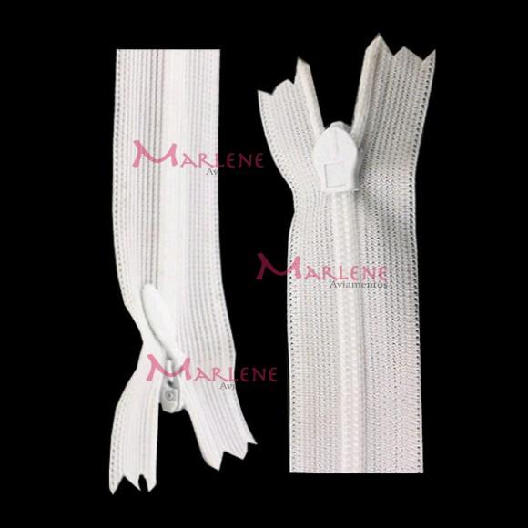 Zíper de nylon invisível 15cm unidade