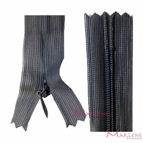 Zíper de nylon invisível 40cm unidade