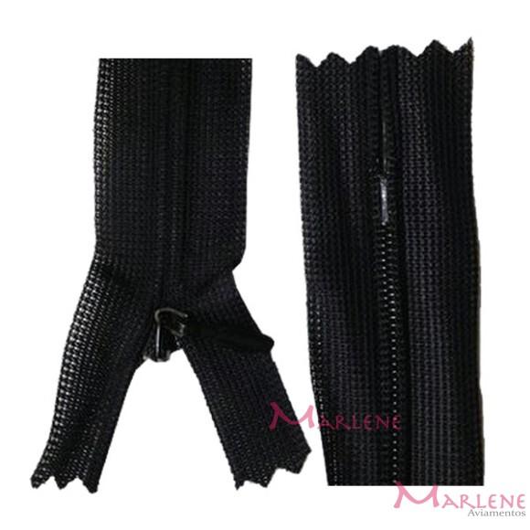 Zíper de nylon invisível 50cm unidade