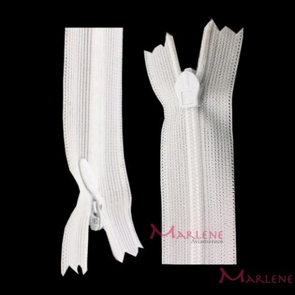 Zíper de nylon invisível 60cm unidade