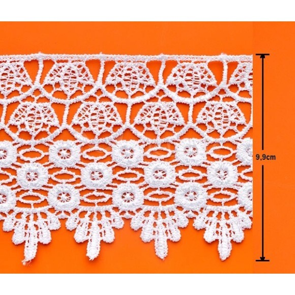 Renda guipir bico CHL-185-99 13,70m