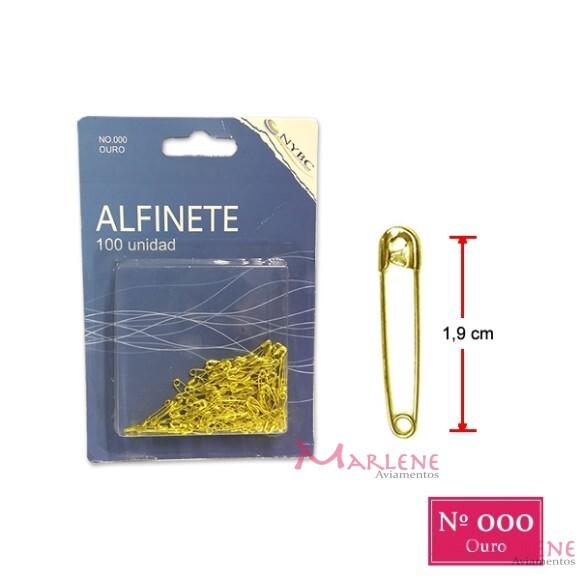 Alfinete de segurança ouro nº000