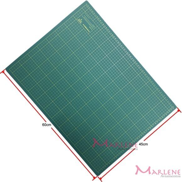 Base de corte verde 60x45cm dupla face A2