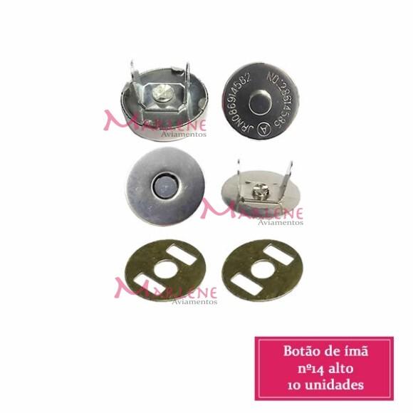 Botão de ímã 10 unidades 14mm níquel alto
