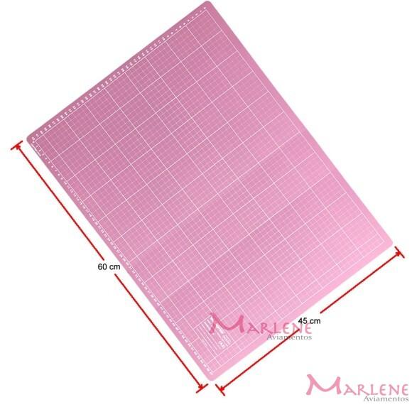Base de corte rosa 60x45cm dupla face A2