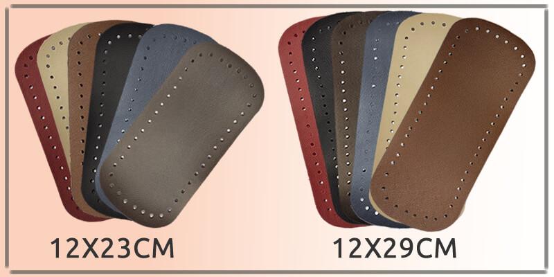 Fundos para bolsas em couro de 12x23cm e sintético de 12x23cm e 12x29cm